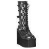 SWING-220 Black Faux Leather